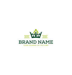 Logo design tree and crown vector