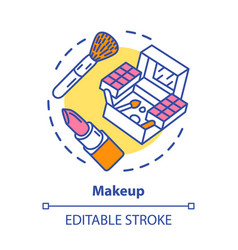 Makeup concept icon make up artist kit equipment vector
