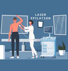 Male laser epilation composition vector