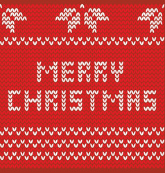 merry christmas knitting card with wishes vector image
