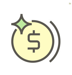 money coin icon design for financial graphic vector image