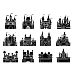 monochrome set with different vector image