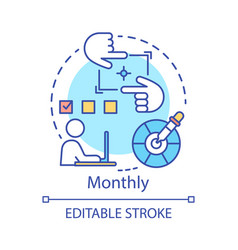 Monthly subscription concept icon vector