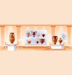 Museum interior ancient art vector