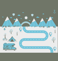 National mountain park camping scene vector