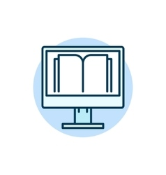 Online education flat icon vector image
