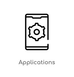 Outline applications icon isolated black simple vector