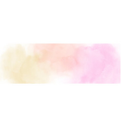 Pastel light yellow orange and pink watercolor vector
