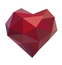 Polygonal heart vector
