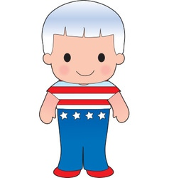 Poppy American Boy vector
