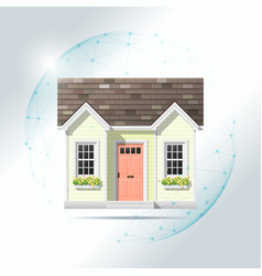 Property insurance concept with small house vector