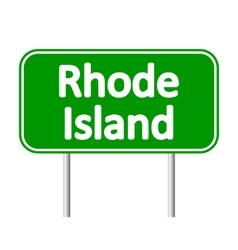 Rhode Island green road sign vector