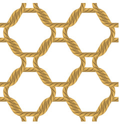 Rope seamless pattern on white backround vector