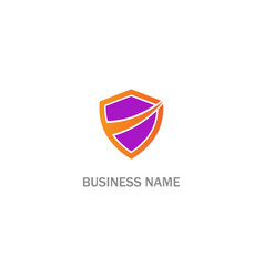 shield protection safe business logo vector image