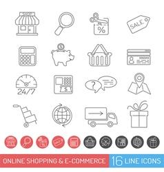 Shopping Line Icon Set vector