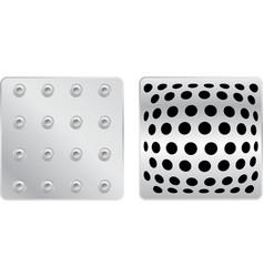 silver plates set b vector image