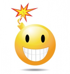 smiley bomb vector image