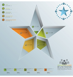 Star Shape Business Infographic vector image