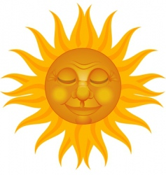 sun man vector image