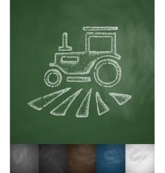 Tractor icon vector