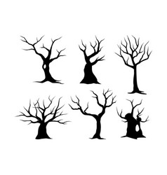 Trees on white background vector