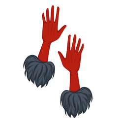 Vintage gloves with fur 30s style accessory vector