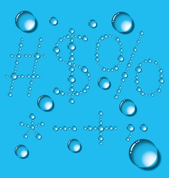 Water Drop Letters On Blue New 12 vector