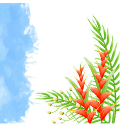 watercolor background with bird of paradise vector image