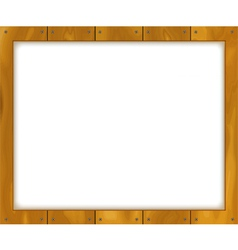 Wooden sign board vector