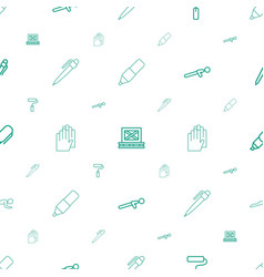 working icons pattern seamless white background vector image