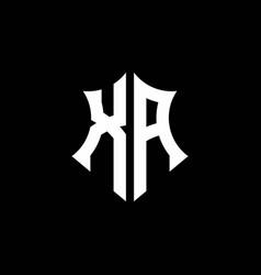 Xa monogram logo with a sharp shield style vector