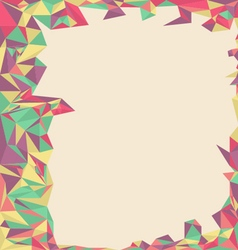 Abstract mosaic backgroundPolygon background vector image