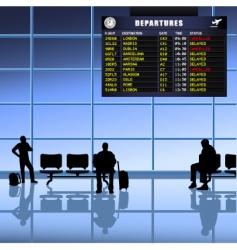 airport set passengers vector image vector image