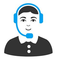 call center operator flat icon vector image