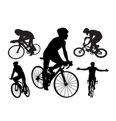 Cyclists vector