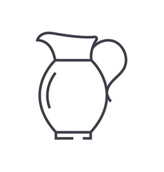 jar line icon sign on vector image vector image