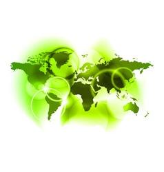 neon world vector image