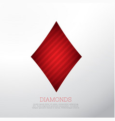 Red diamond shape isolated on white background vector