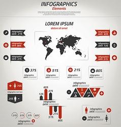 retro infographics 3 vector image