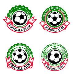 set of colorful football club emblems soccer club vector image