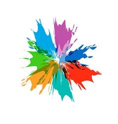 Splash burst color paints vector image vector image
