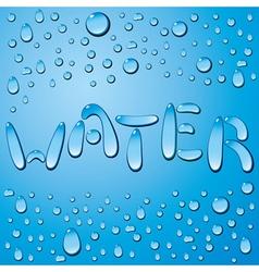 Water drop word vector image vector image