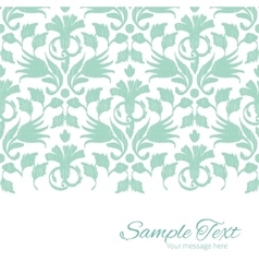 Abstract green ikat horizontal border card vector