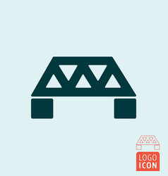 bridge icon isolated vector image