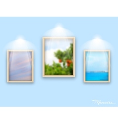 Frames on wall vector image vector image