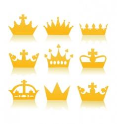 golden crowns vector image vector image