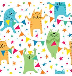 happy birhday cats vector image