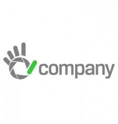 Logo shutter hand for photography vector