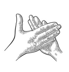 man clapping hands applause sign vector image vector image