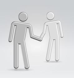 shake hands deal vector image vector image